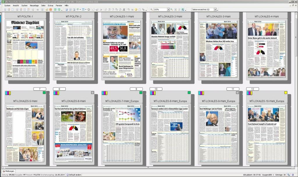 12 Extra-Seiten zur Wahl enthält die heutige MT-Ausgabe. Leider konnte sie erst verspätet sowie mit reduziertem Umfang gedruckt und zugestellt werden, deshalb hat der Verlag das E-Paper fregegeben. Repro: MT