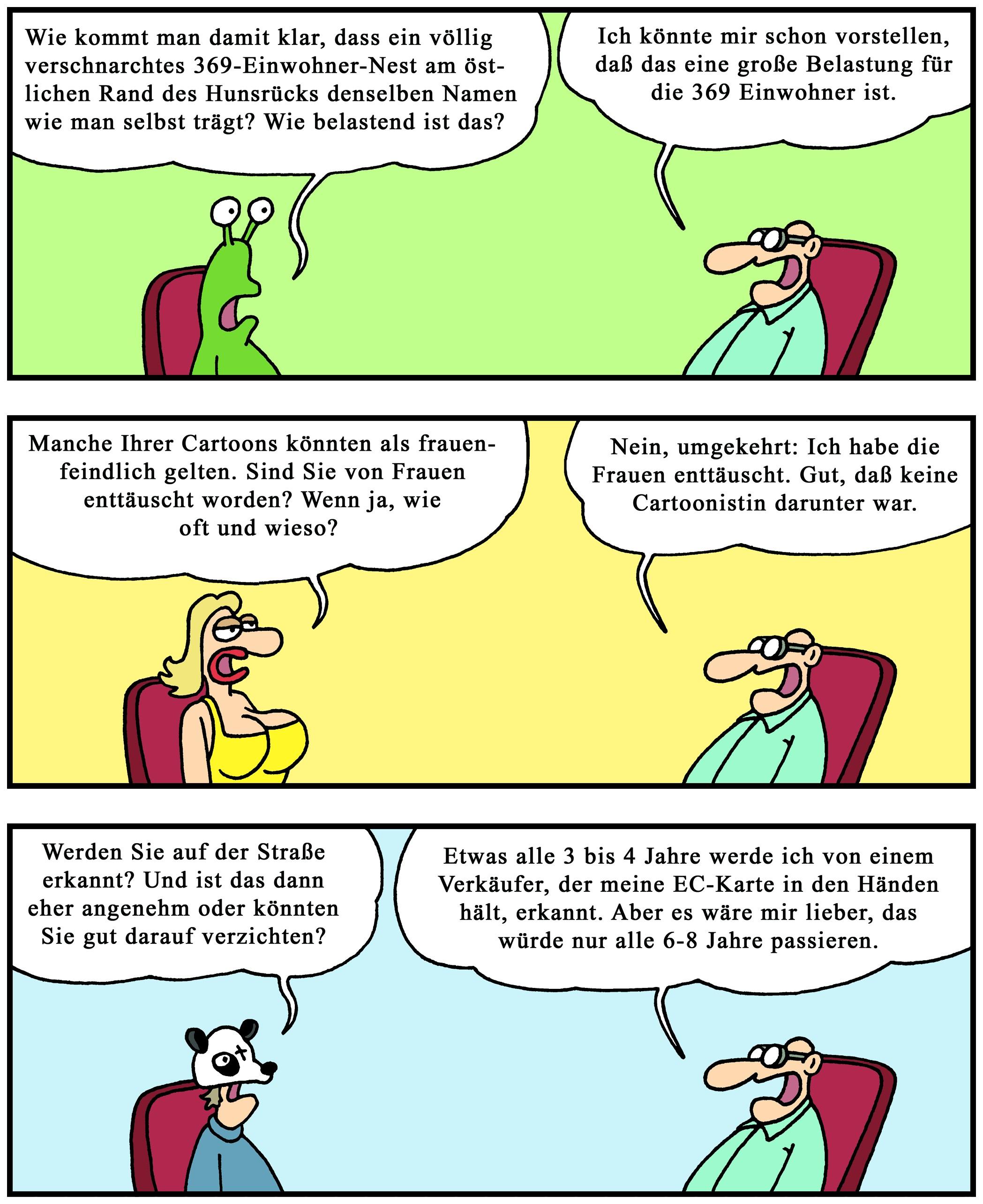 Mit Perscheid In Die Abgründe Des Alltags Cartoon Serie Feiert 20
