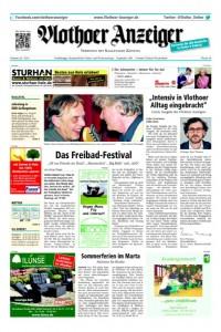 Die Titelseite des heute letztmalig erschienenen Vlothoer Anzeigers. Repro: MT