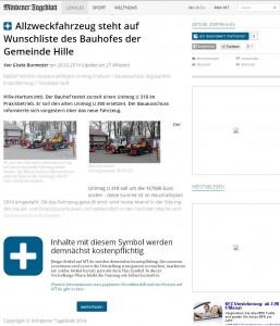 Mit diesem Hinweis wird MT.de ab der kommenden Woche darauf aufmerksam machen, welche Artikel künftig kostenpflichtig werden. Die Nutzung bleibt vorerst weiter frei. Repro: MT