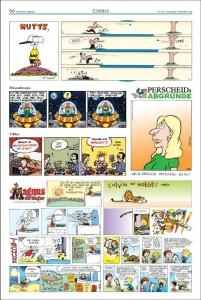 Die neu zusammengestellte Comics-Seite bringt ein Wiedersehen mit alten Bekannten. Repro: MT