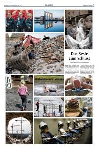 Mit einer Seite typischer Otto-Fotos hat sich die Redaktion in der heutigen Ausgabe von ihrem langjährigen Fotografen verabschiedet. Repro: MT