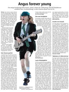 Und hier der vollständige Artikel in der Zeitungsansicht. Repro: MT