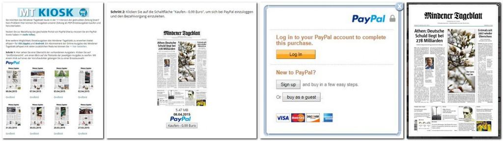 Jetzt ist auch der Einzelkauf  von PDF-Ausgaben des Mindener Tageblatts möglich. Repro: MT