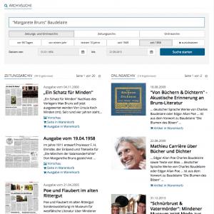 Suchmaske und Ergebnisausgabe. Repro: MT
