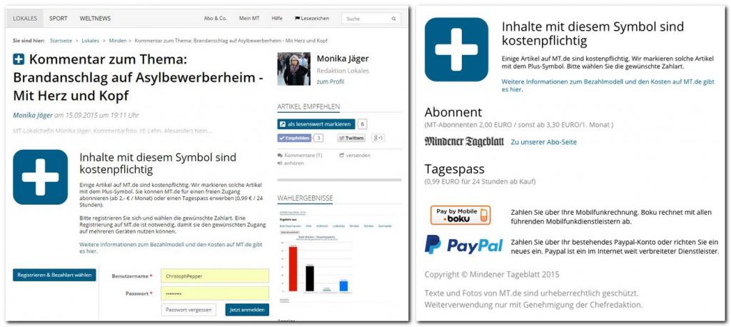 Kostenpflichtige Inhalte auf MT.de sind mit einem Tagespass 24 Stunden lang unbegrenzt nutzbar. Dieesen Service kann man jetzt auch wieder über die Handyrechnung bezahlen. Repro: MT