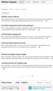Alle eingehenden Leserbriefe werden unabhängig vom Datum des Abdrucks und ohne die dafür eventuell notwendigen Kürzungen zeitnah auf MT.de eingestellt - im kostenfreien Teil des Angebots. Repro: MT