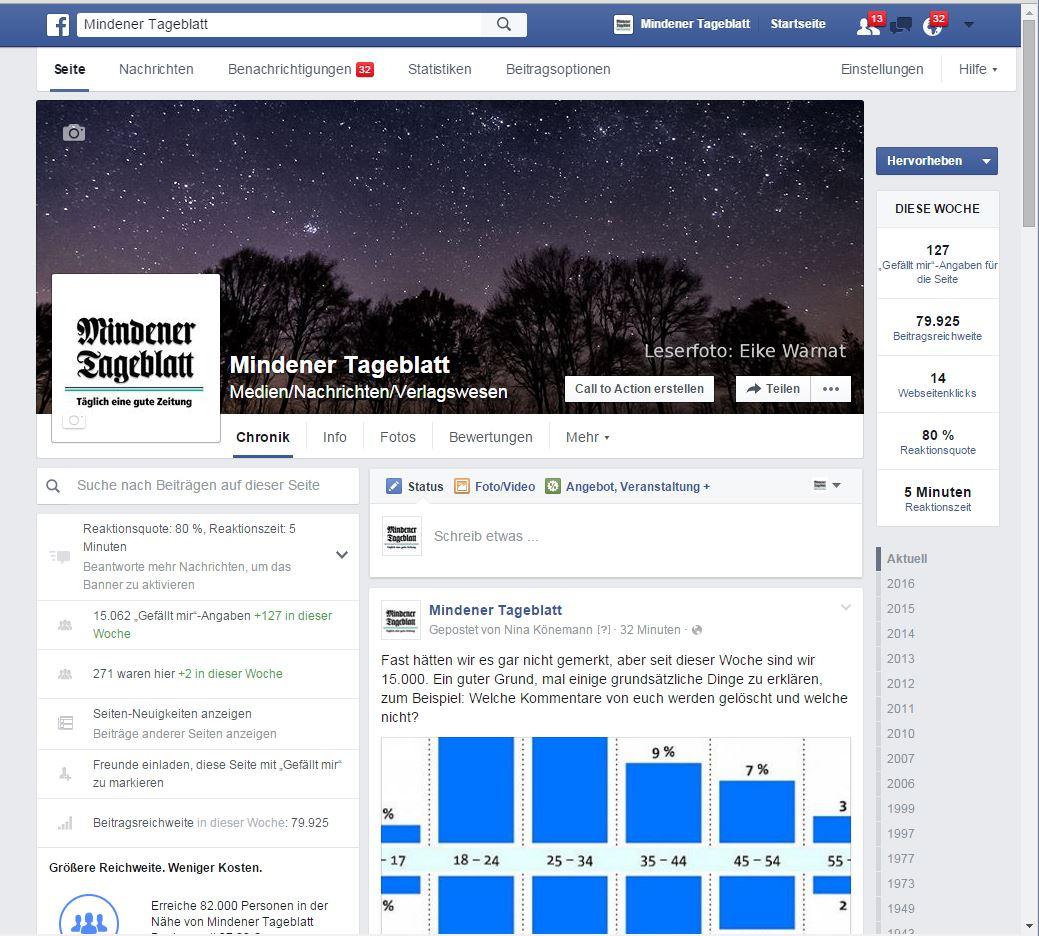 15.000 Facebook-Likes für die MT-Seite - das ist ganz schön viel und darüber freuen wir uns aufrichtig. Weniger freuen wir uns des öfteren über den in manchen Kommentaren angeschlagenen Ton.