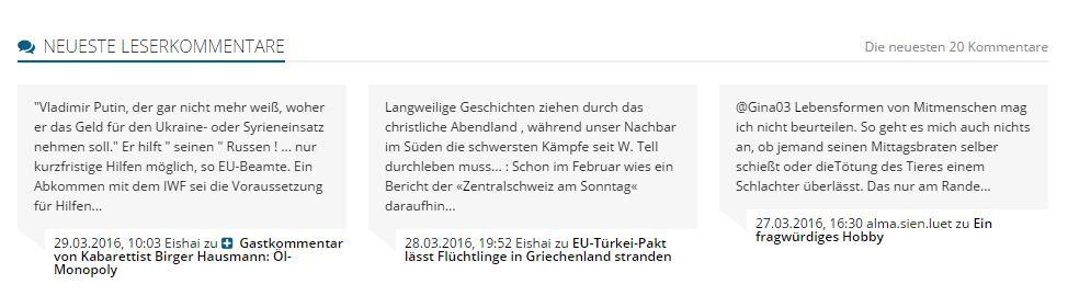 Von der Kommentarfunbktion auf MT.de wird häufig lebhafter Gebrauch gemacht, müberwiegend unter so genannten Nicknames. Eine neue Regel verlangt jetzt in bestimmten Fällen Klarnamenpflicht. Repro.