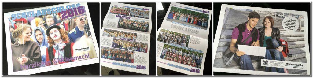 """Alle Schulabgänger der MT-Region: Unser traditiopnelles """"Schulabschluss""""-Magazin liegt heute mit der Ausgabe 2016 dem gedruckten MT bei. Online ist es als eMag abrufbar. Repros: MT"""