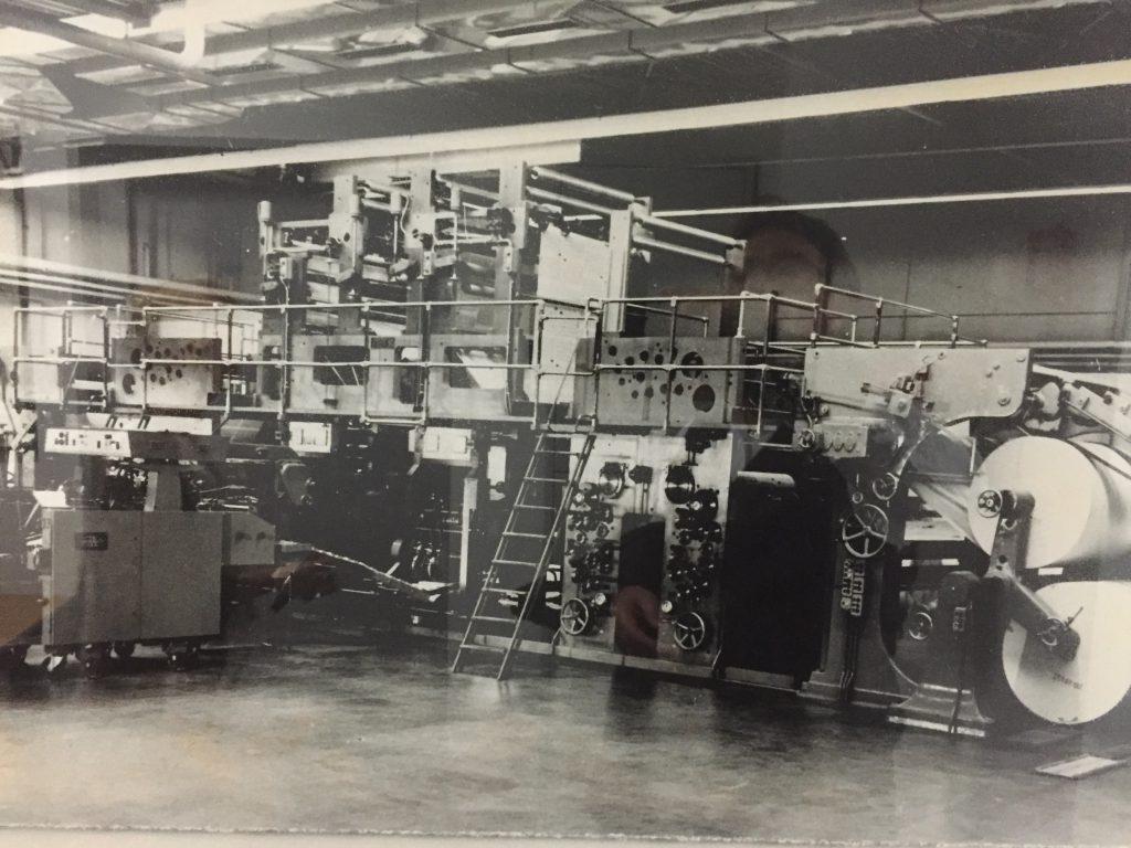 Auf dieser Maschine wurde das MT bis 1976 am Trockenhof gedruckt. Repro: MT-Archiv