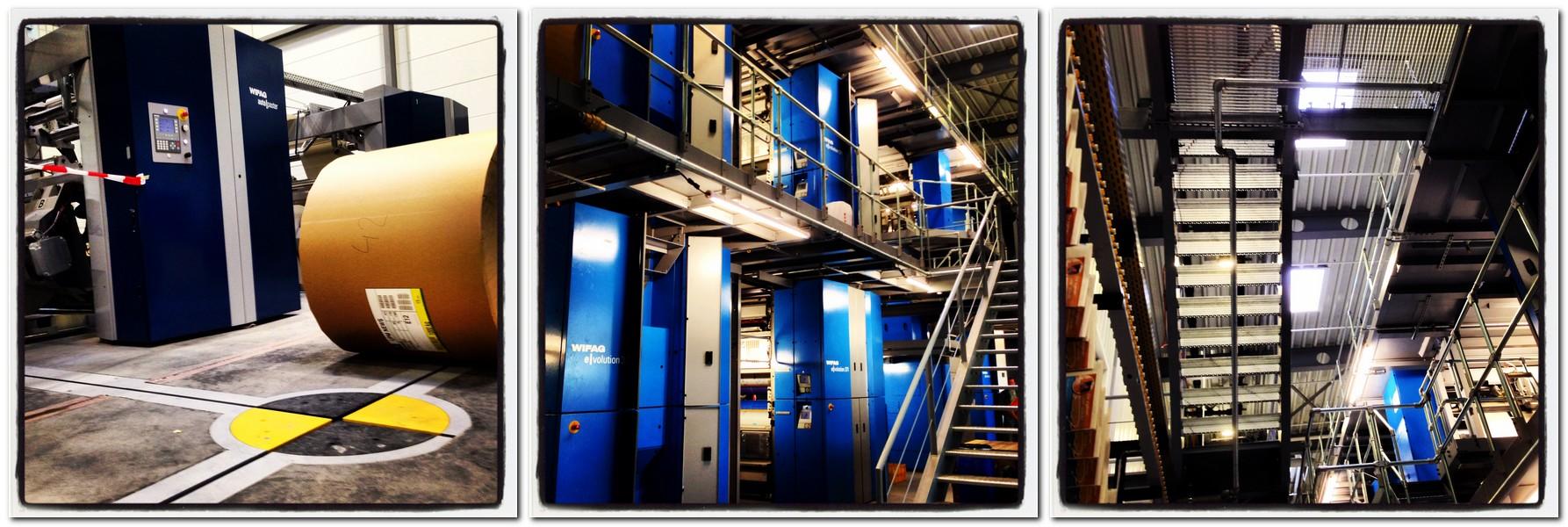 Eine technische Panne an der Rotation hat Dienstagnacht die Herstellung von insgesamt 12.000 MT-Exemplaren verhindert. Fotos: chp