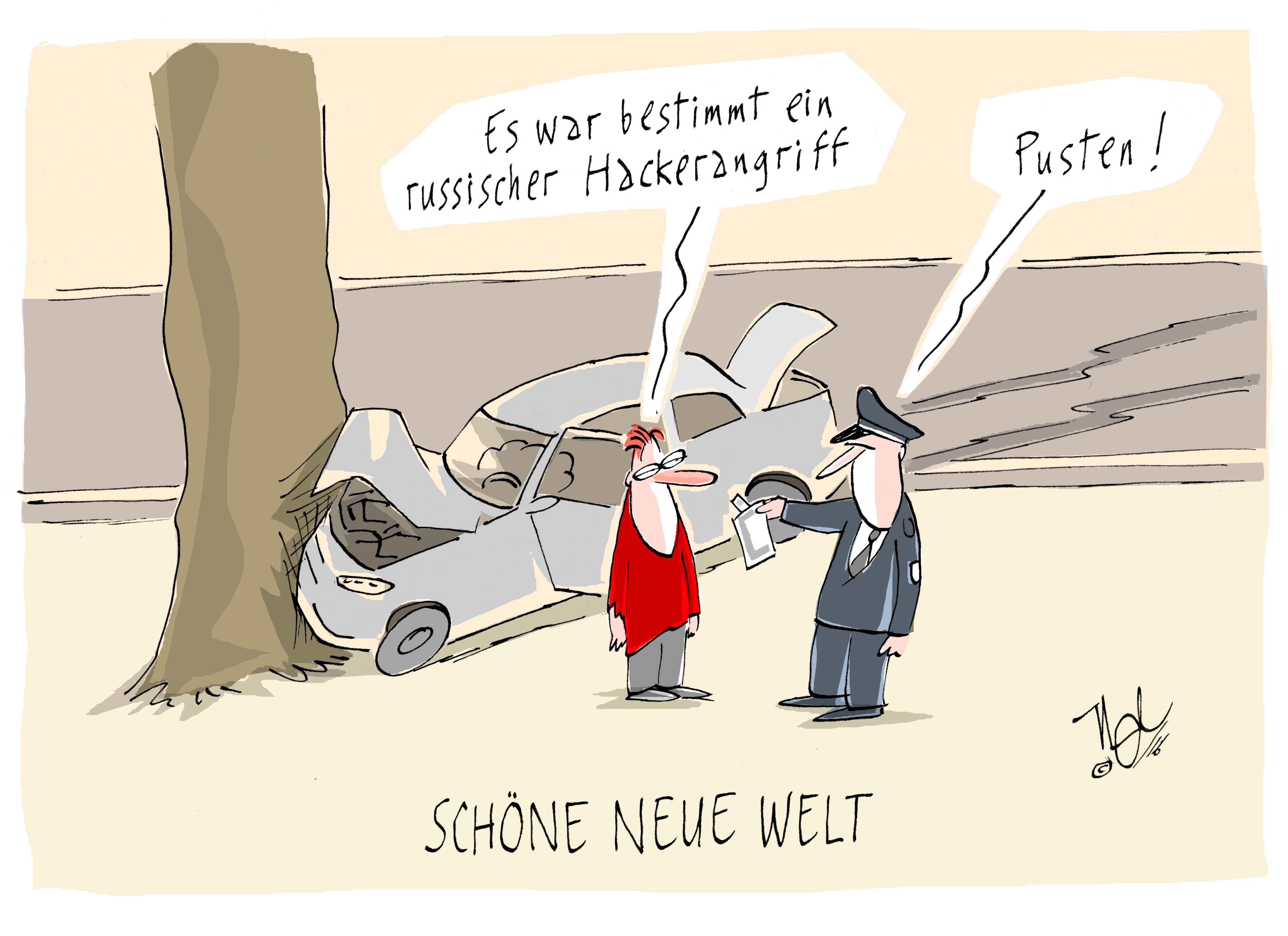 Drittplatzierter beim Karikaturenpreis 2016 des des BDZV: Nel (Thüringische Landeszeitung)