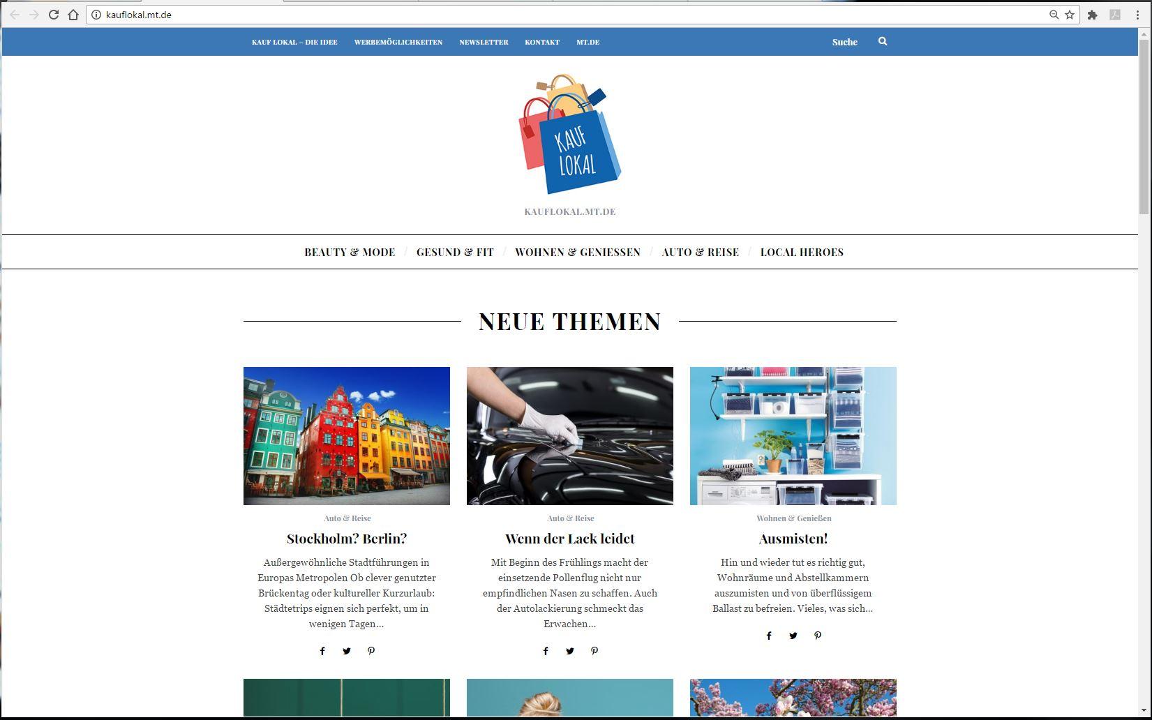"""Neuer MT-Lifestyle-Blog """"kauf lokal!"""" bringt trendige Themen ..."""