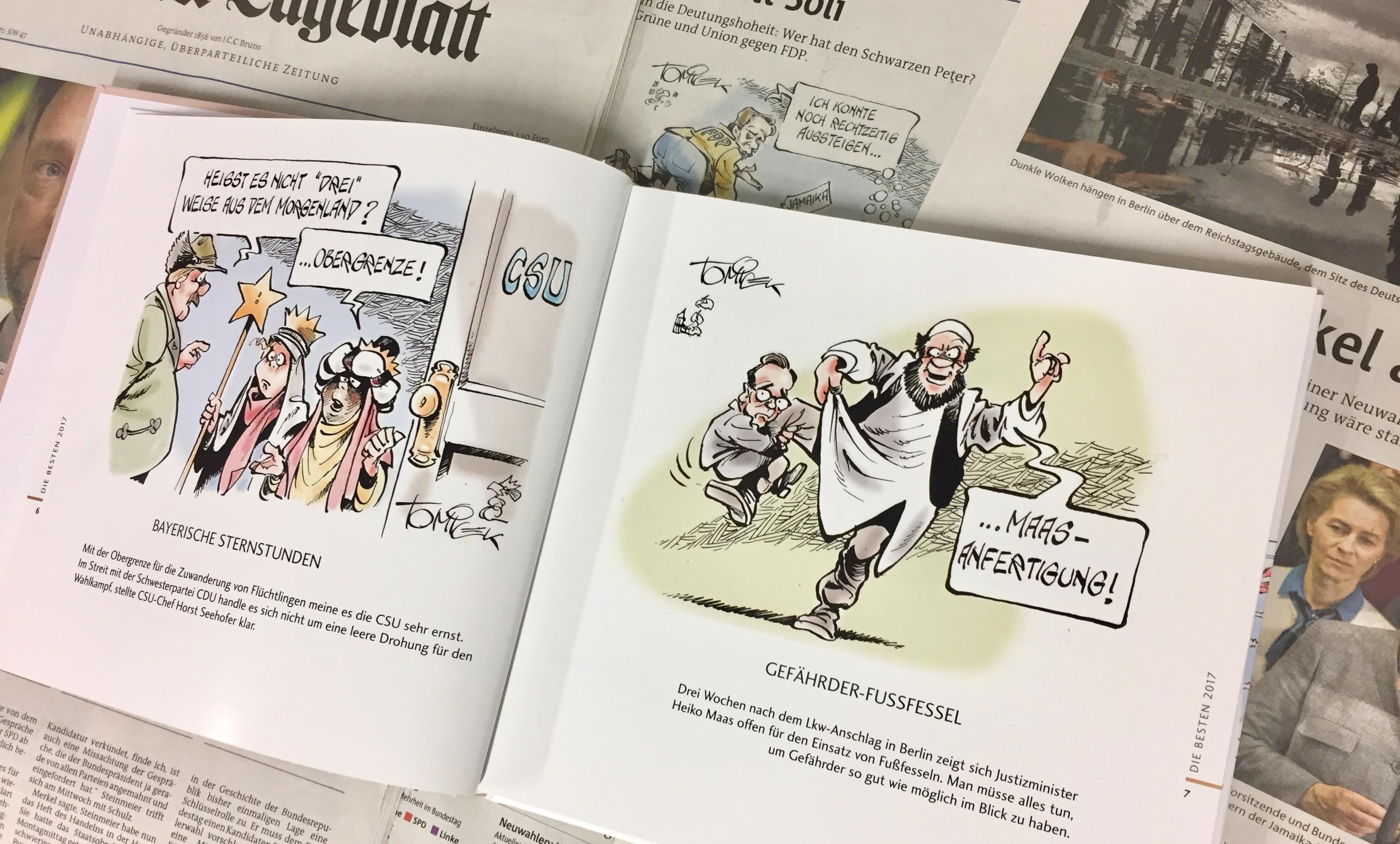 Mit spitzer Feder durch die Politik des Jahres 2017: Das neue ...