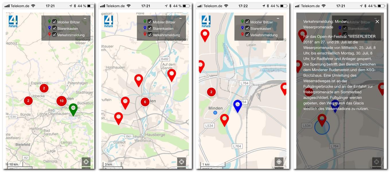 Mobile Blitzer Karte.Immer Mit Einem Blick Auf Dem Laufenden Interaktive Karte