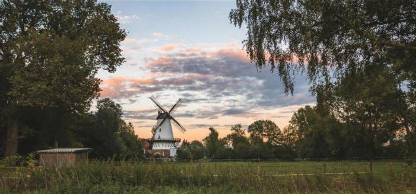 Windmühle Lahde im Abendlicht Leserfoto: Christoph Gunkel