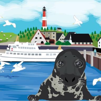 Zuordnungsspiel: Robbe Willi besucht den Hafen